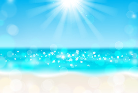 Illustration for Shining sun on the beach - Royalty Free Image
