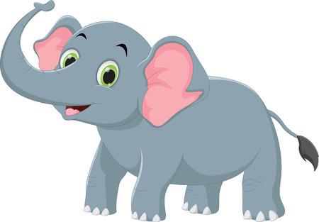 Ilustración de cute elephant cartoon - Imagen libre de derechos