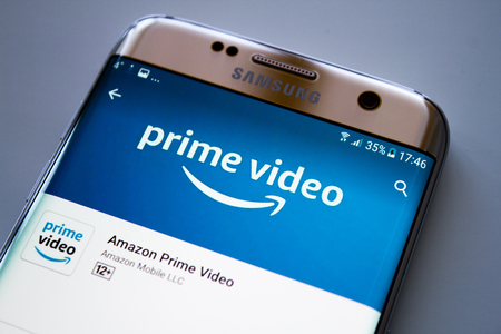 Photo for Kazan, Russian Federation - Jun 15, 2018: Amazon Prime Video HomePage of Website. Amazon, is an American electronic commerce. To expand its business, amazon has created a new online streaming video service - Royalty Free Image