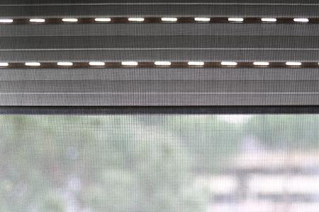 Foto de Mosquito net on a PVC window - Imagen libre de derechos