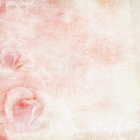 Photo for pink wedding background with roses  - Royalty Free Image