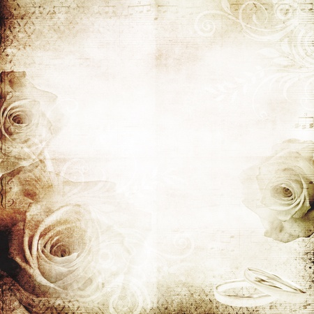 vintage wedding background with roses