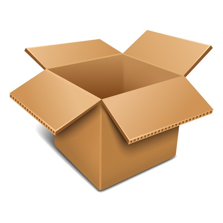 Illustration for Empty open cardboard box - Royalty Free Image