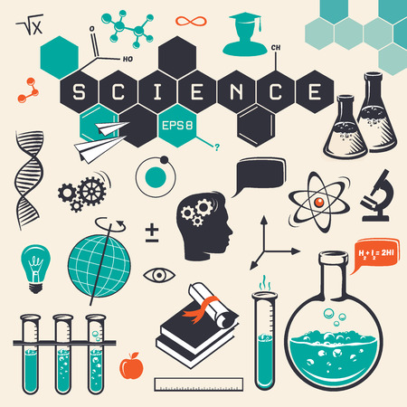 Illustration pour Science icons set - image libre de droit