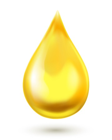 Ilustración de Oil drop isolated on white background - Imagen libre de derechos