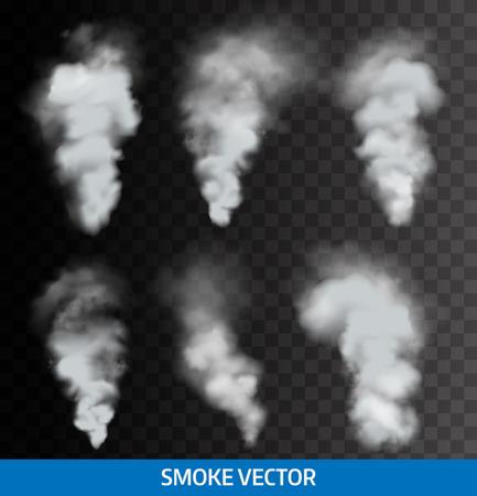 Ilustración de Realistic transparent smoke, steam. Vector - Imagen libre de derechos