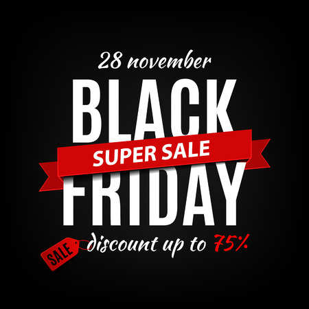 Illustration pour Black friday sale inscription design template. Black friday banner. Vector illustration - image libre de droit