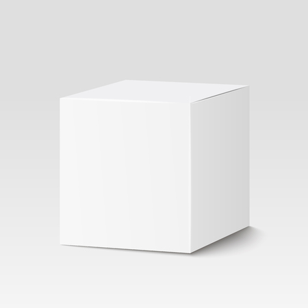 Illustration pour White square box, container  packaging. - image libre de droit