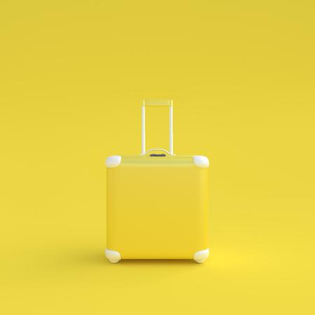 Photo pour Travel suitcase pastel color isolated on white background,3d render. - image libre de droit