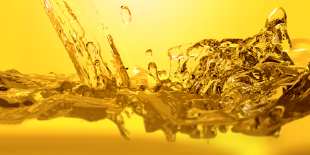 Photo for Pouring oil car motor 3d render. - Royalty Free Image