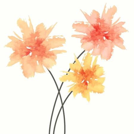 Illustration pour Floral bouquet. Watercolor flowers. - image libre de droit