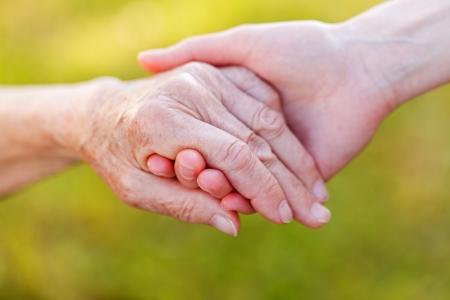 Foto de The helping hands for elderly home care - Imagen libre de derechos