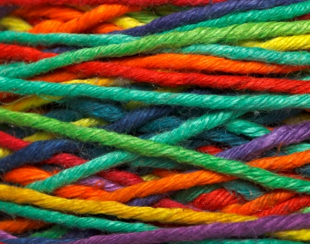 Photo pour The multicolored yarn used for knitting clothes - image libre de droit