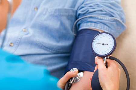 Photo for Close up photo of blood pressure measurement - Royalty Free Image
