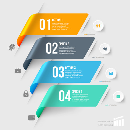 Illustrazione per Modern infographics element number template. Vector illustration. can be used for workflow layout, diagram, business step options, banner, web design - Immagini Royalty Free