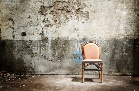 Photo for Empty chair and ray of light  - Royalty Free Image