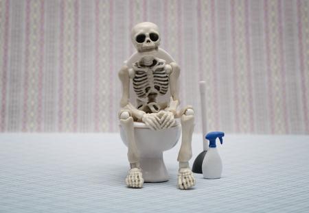 Photo pour skeleton toilet - image libre de droit