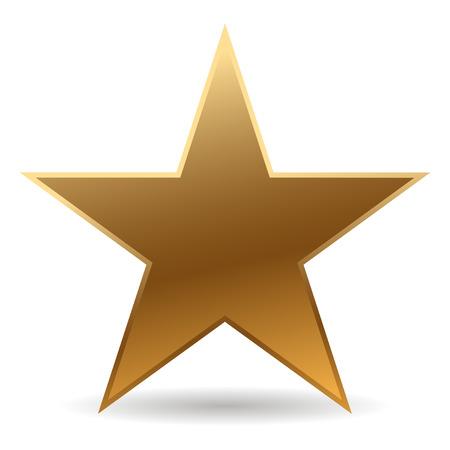 Illustration pour cool golden star with shadow - image libre de droit