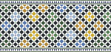 Illustration pour wall tiles alhambra design - image libre de droit