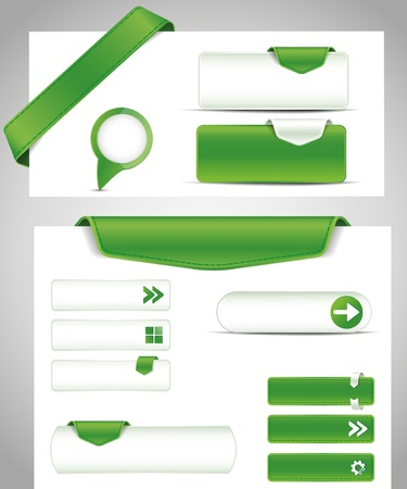 Illustration for Green set buttons for your site - Royalty Free Image