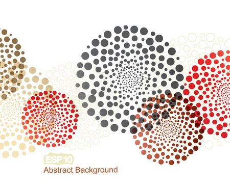 Illustration for abstract colorful decorations with a circles - Royalty Free Image