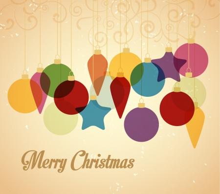 Photo pour Retro Christmas background with Christmas balls - image libre de droit
