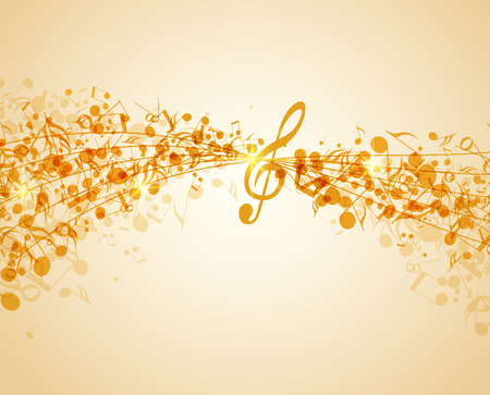 Illustration for Vector illustration of an abstract music background - Royalty Free Image