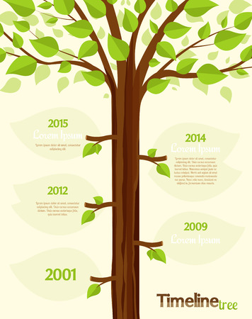 Illustration pour Timeline shaped tree with space for your text - image libre de droit