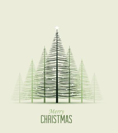 Illustration pour Set of Christmas trees, vector illustration Forest - image libre de droit