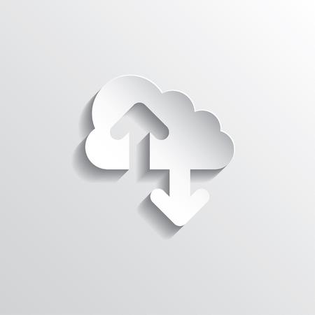 Illustration pour Cloud computing concept. Vector illustration in EPS10. - image libre de droit