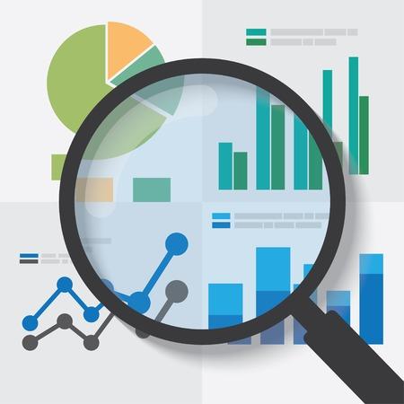 Ilustración de Data analysis concept. EPS10 file and included high resolution jpg - Imagen libre de derechos