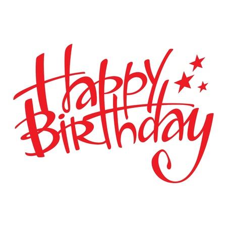 Happy Birthday holiday event congratulation postcard