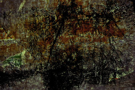 Photo pour Grunge Torn poster after vote on tin textured wall. Ripped newspaper. - image libre de droit
