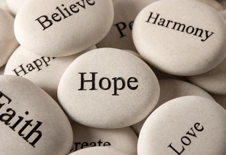 Foto de Inspirational stones - Hope - Imagen libre de derechos