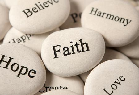 Photo pour Inspirational stones - Faith - image libre de droit