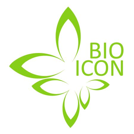 BIO icon. Ecological design element