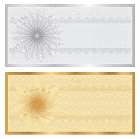 Illustration pour Gift certificate - image libre de droit