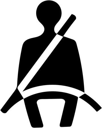 Photo pour Fasten safety seat belt icon. - image libre de droit