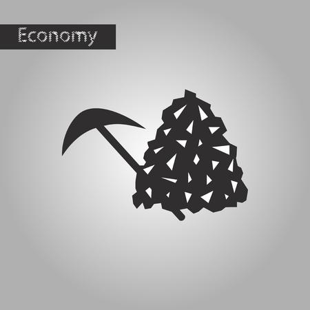 Ilustración de black and white style icon Coal and hammer - Imagen libre de derechos