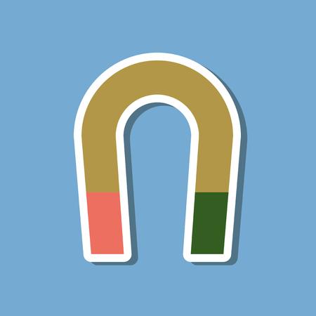 Foto de paper sticker on stylish background magnet - Imagen libre de derechos