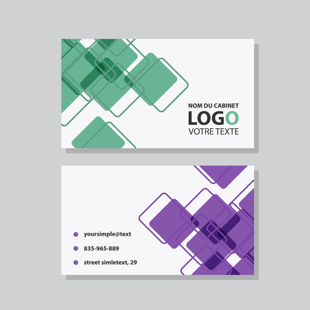 Illustration pour Creative and Clean Business Card Template. Flat Design Vector Illustration. Stationery Design - image libre de droit
