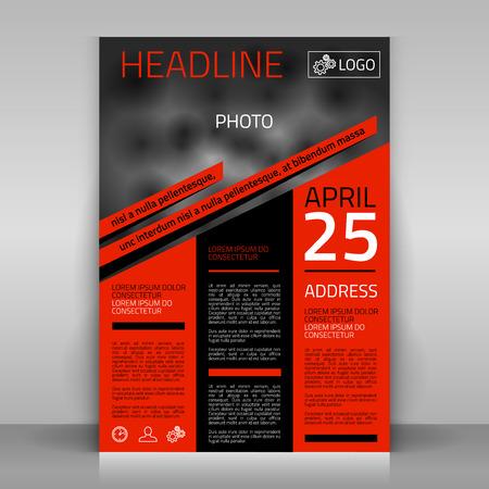Illustration pour Business flyer design, broshure cover template. Vector mock up. - image libre de droit