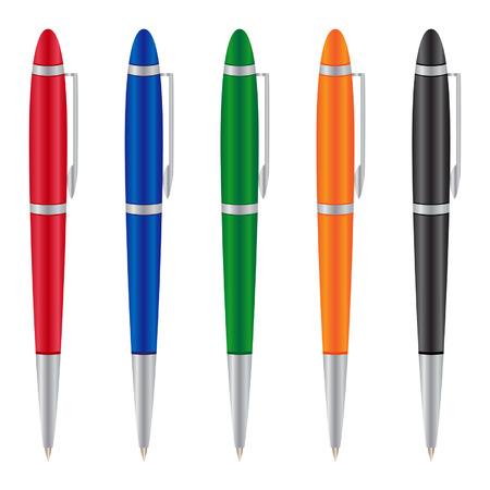 Ilustración de Isolated pens icons on the white background - Imagen libre de derechos