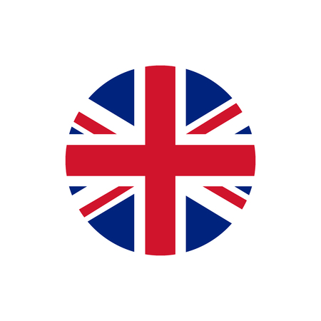 Illustration pour UK of Great Britain flag, official colors and proportion correctly. National UK of Great Britain flag. Vector illustration - image libre de droit
