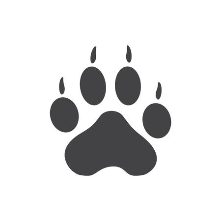 Ilustración de Vector illustration of Tiger Paw Print - Imagen libre de derechos