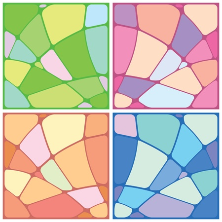Illustration for Set abstract mosaic background of the various elements. Vector - Royalty Free Image