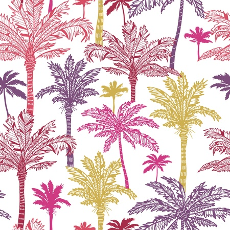 Illustration for Palm trees seamless pattern background - Royalty Free Image