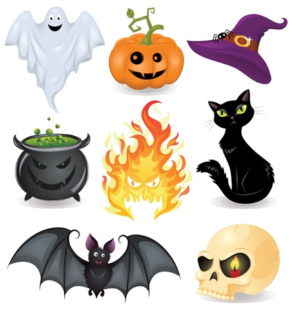 Set of halloween icons.