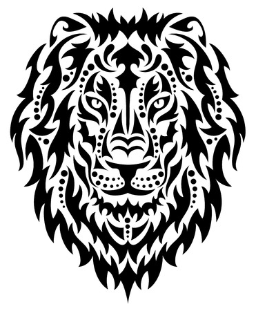 Illustration for Head of a lion. - Royalty Free Image