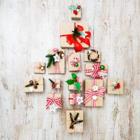 Photo pour Christmas craft boxes - image libre de droit